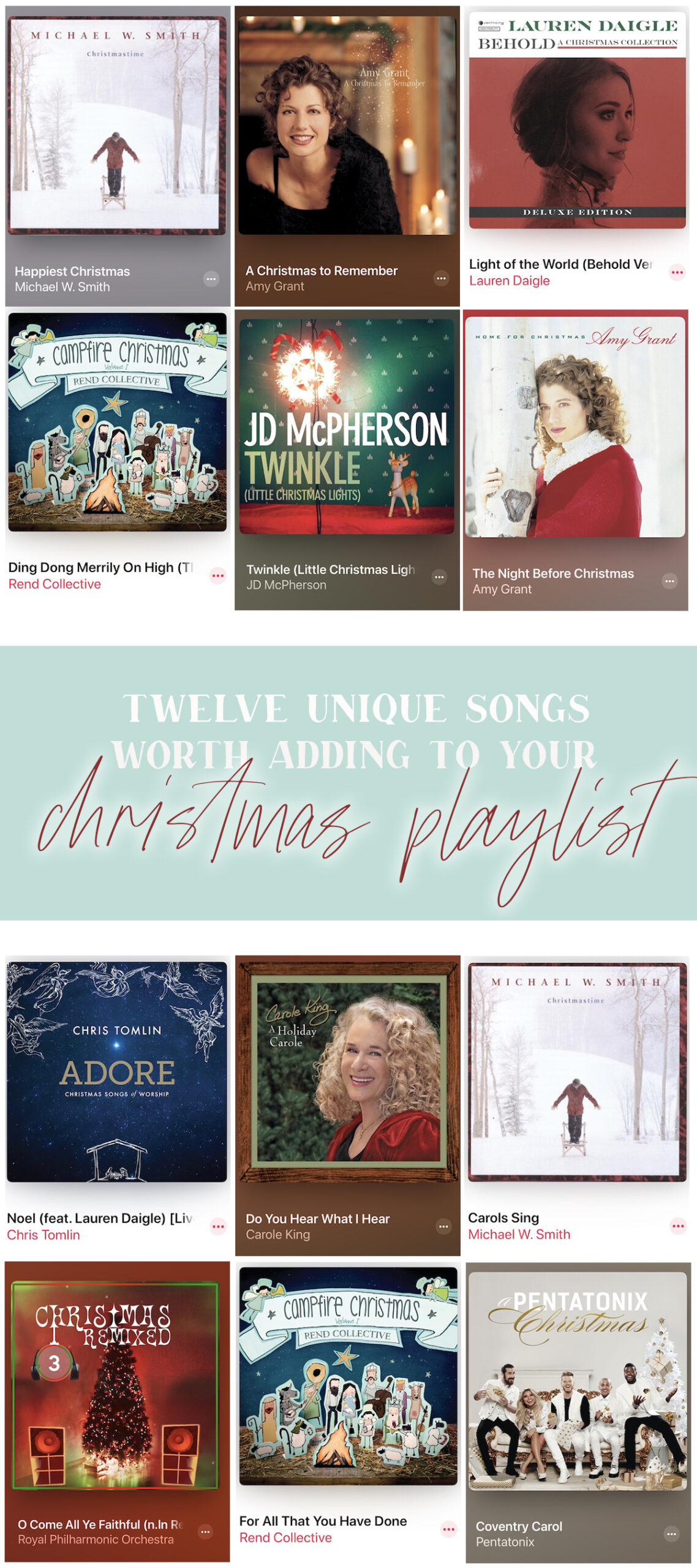 12 unique christmas songs you might want to add to your holiday playlist!