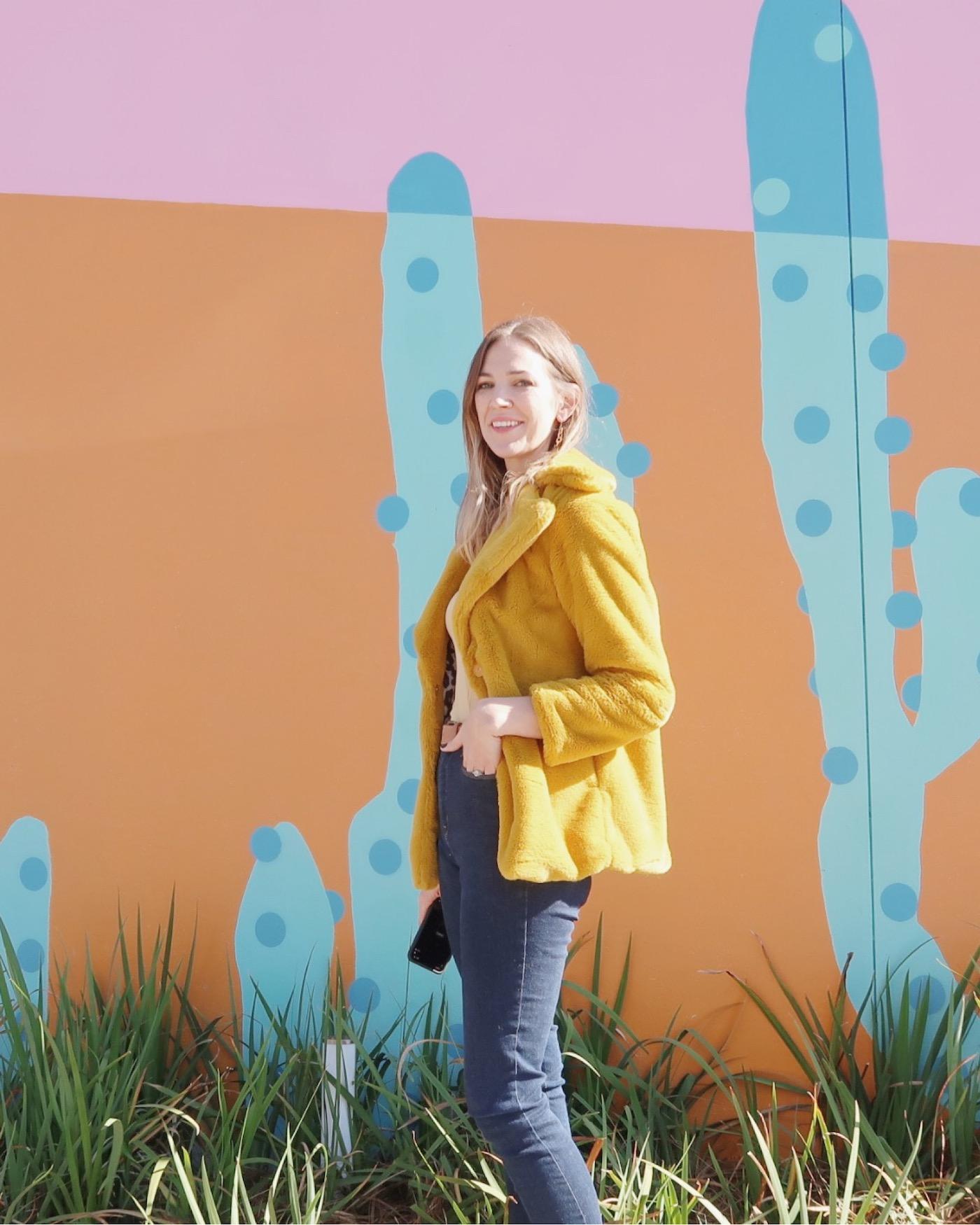 Fuzzy Yellow Coat