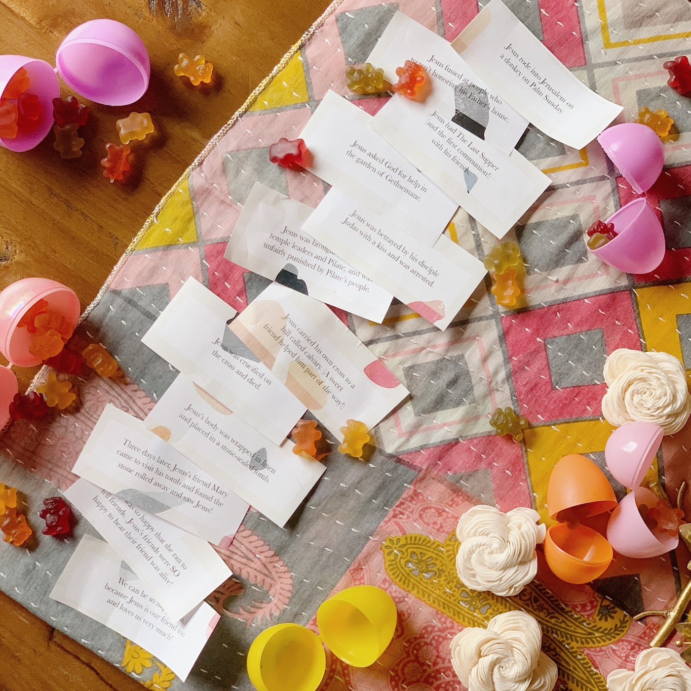 Free easter story printable for easter eggs