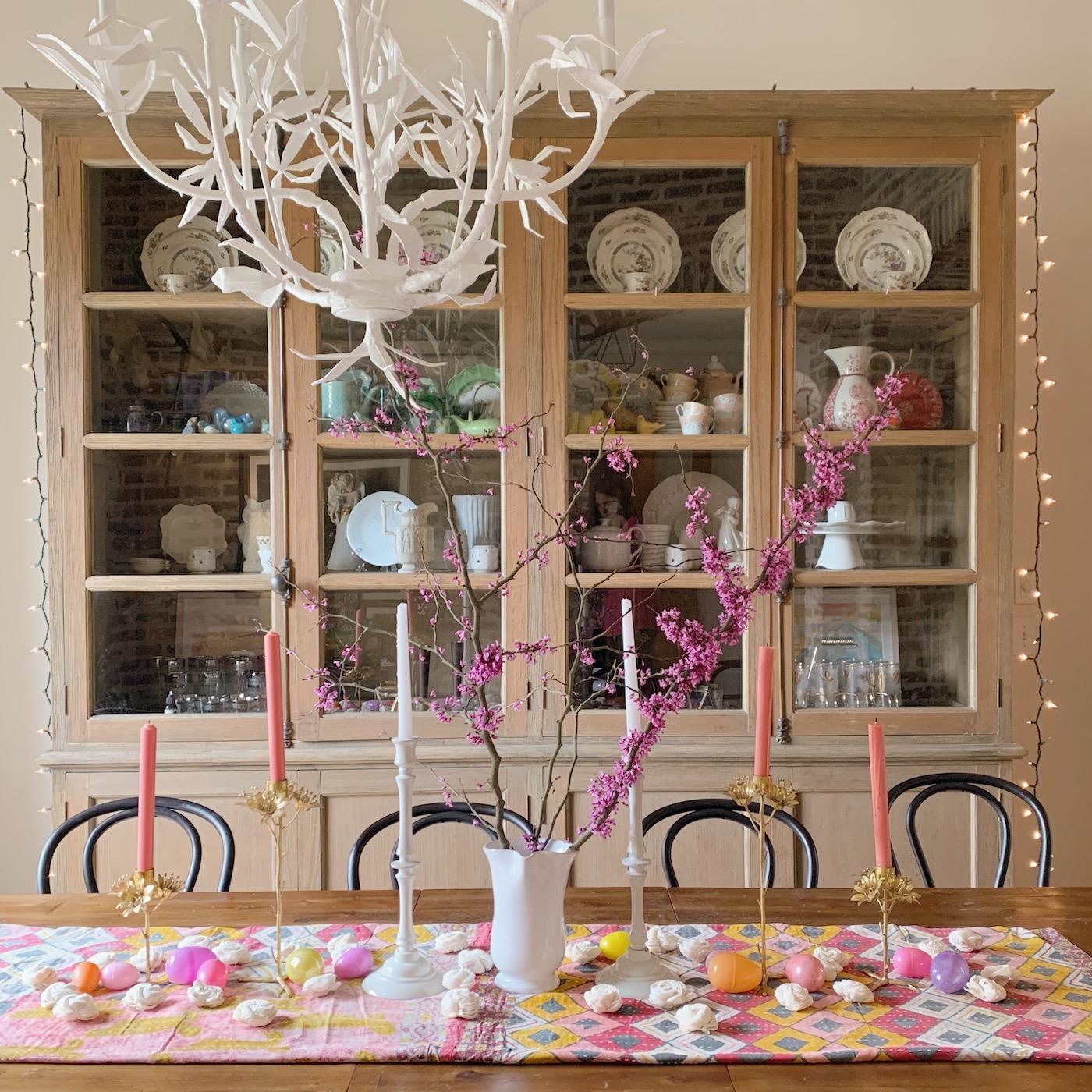 Spring/Easter dining room decor
