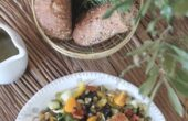 Tuscan Chopped Salad with Pan-Roasted Catfish