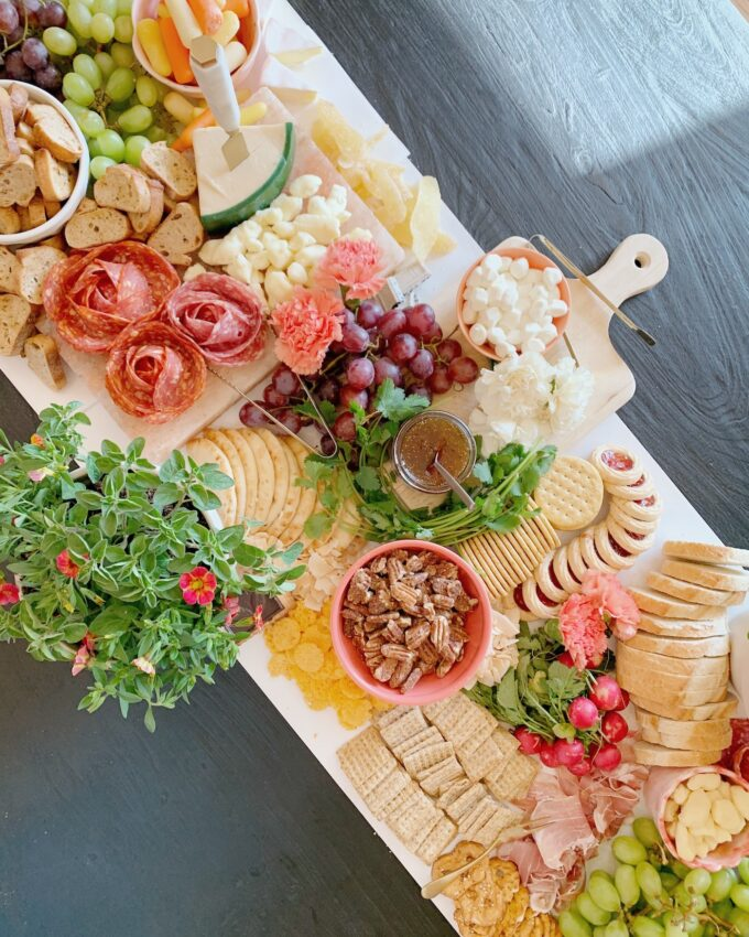 Garden Party Charcuterie Table