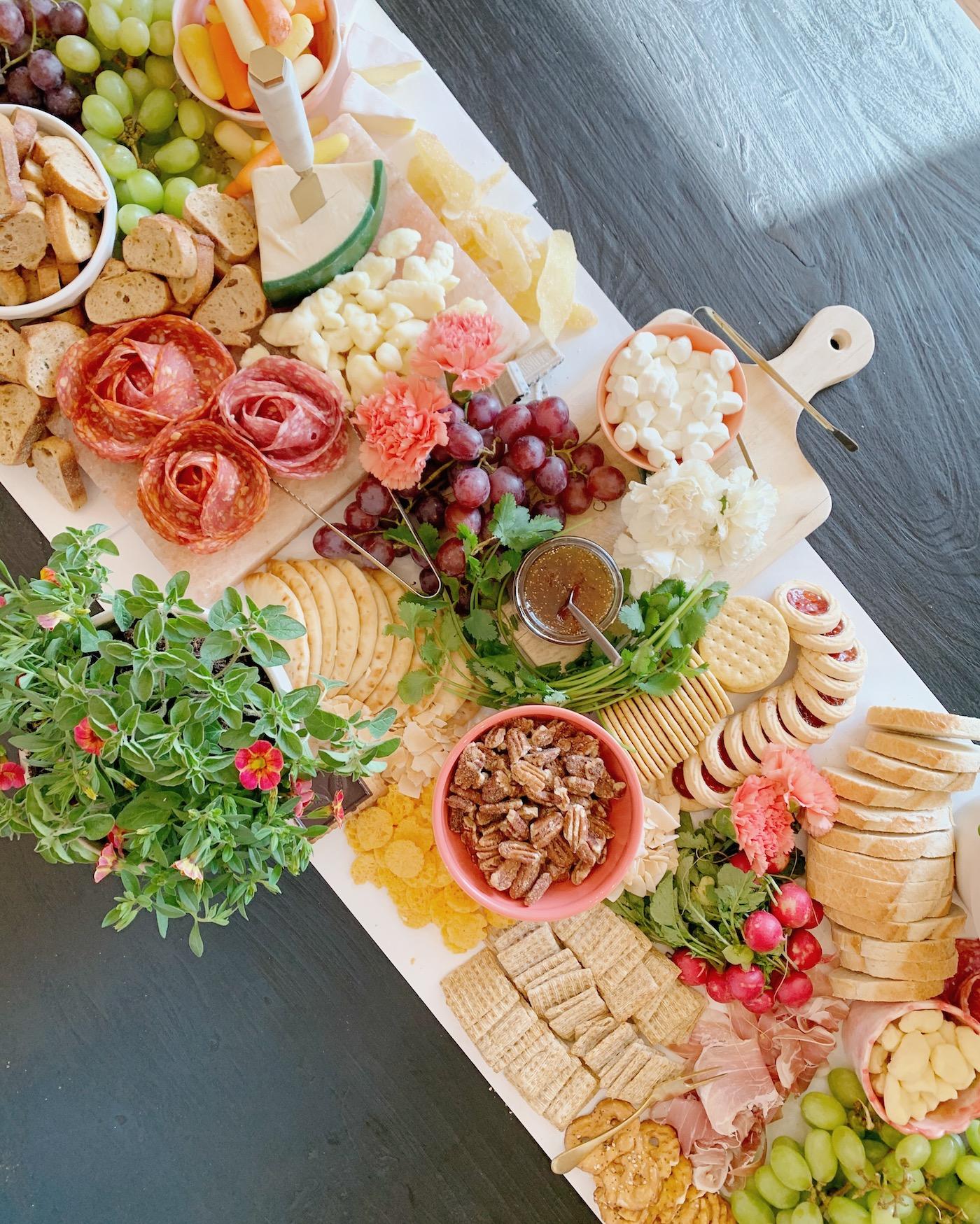 Garden Party Charcuterie Table
