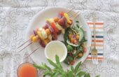 Lemon Herb Catfish Kebabs made with U.S. Farm-Raised Catfish